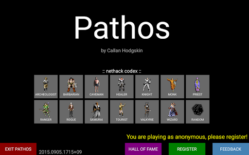 Pathos: Nethack Codex