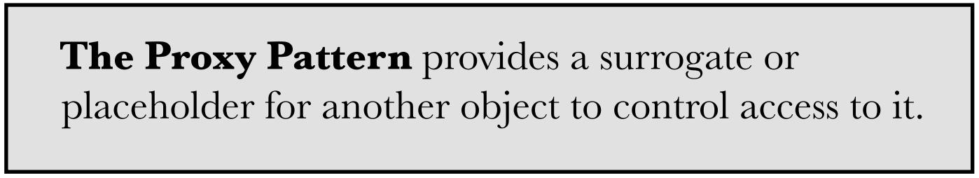 Định nghĩa Proxy Pattern