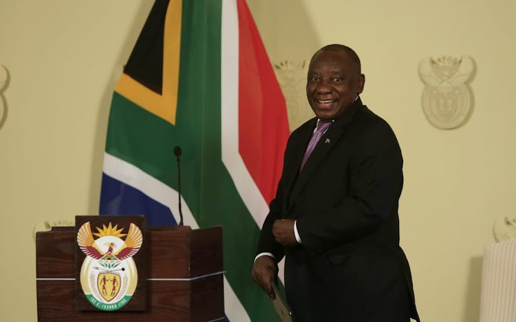 President Cyril Ramaphosa during a press conference on changes to his cabinet at the Union Buildings in Pretoria on November 22 2018.