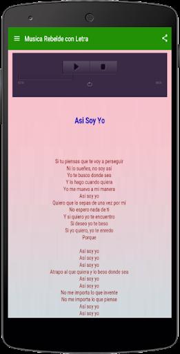 玩音樂App|Música de Rebelde Letras免費|APP試玩