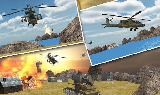 陸軍のヘリコプターのパイロット3Dシム