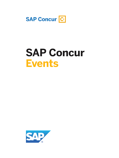 SAP Concur Events 1.0 screenshots 4