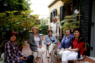Photo: Na tarasiku pensjonatu PRATI w Montecatini Terme w oczekiwaniu na autokar
