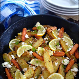 Roasted Lemon Feta Fingerling Potatoes