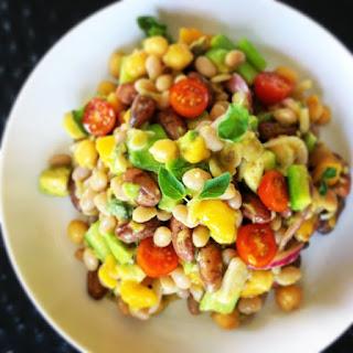 3 Bean, Mango and Avocado Salad