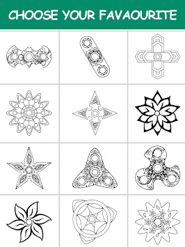 Fidget Spinner Mandala Coloring Book APK Screenshot Thumbnail 14