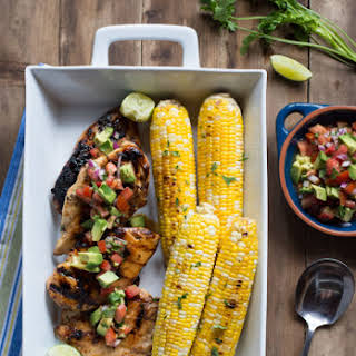 Cilantro Lime Grilled Chicken with Avocado Salsa.