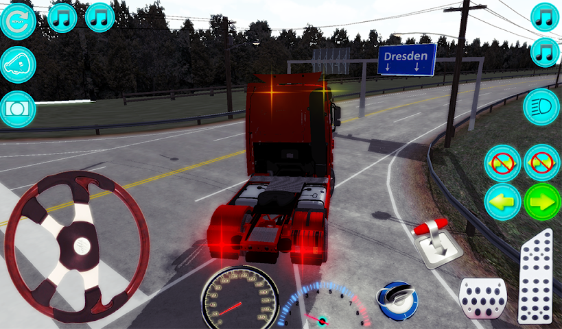 android Actros Truck Simlation Real ! Screenshot 6