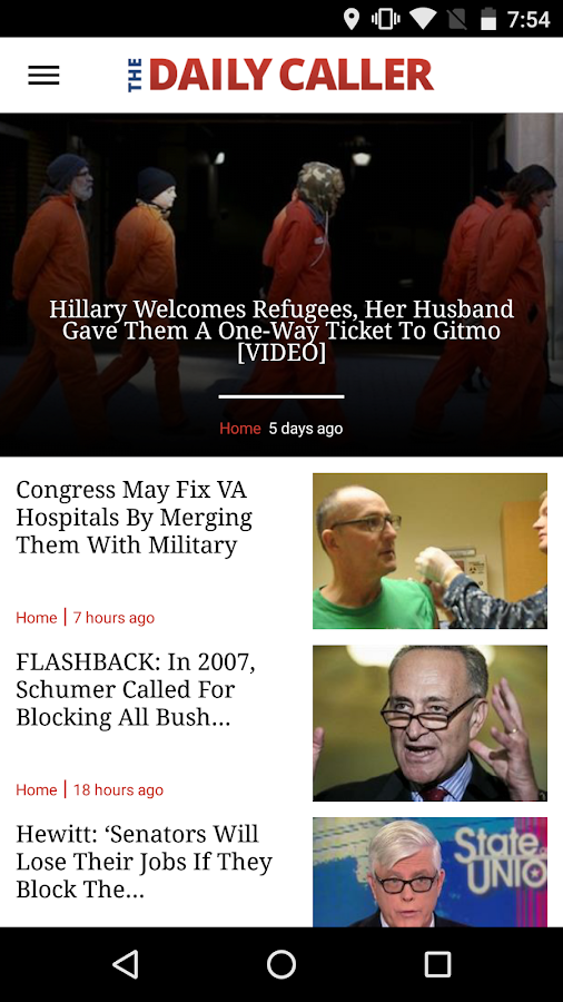 The Daily Caller- screenshot