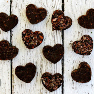 Raw Vegan Chocolate Fudge Caramel Hearts (Raw, Vegan, Gluten-Free, Dairy-Free, Paleo-Friendly, No Refined Sugar) Recipe