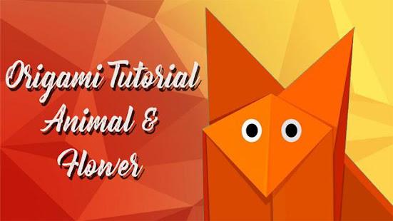 Origami tutorial animal flower apps on google play screenshot image mightylinksfo