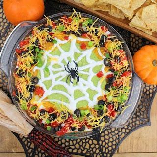 Spider Web Taco Dip.