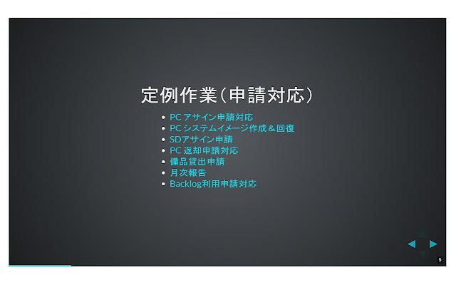 slide method for Backlog