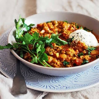 Easy Quinoa and Lentil Curry.