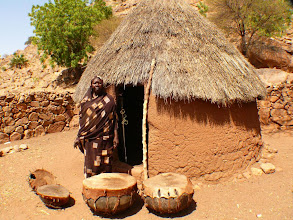Photo: the holy drums of the Kadugli - tribe in South Kordofan, Sudan