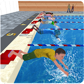 Kids Water Swimming Championship