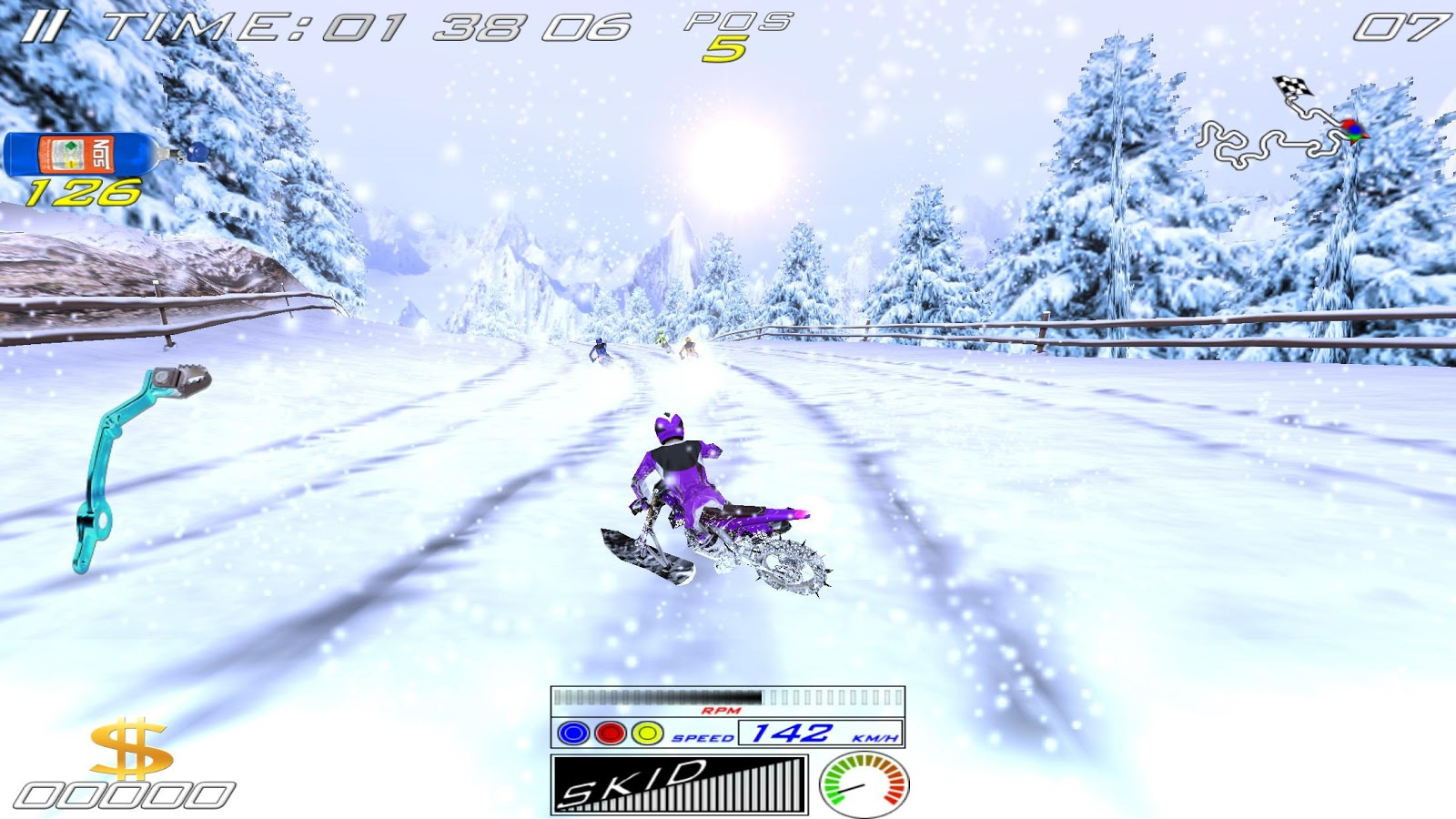 XTrem SnowBike- screenshot