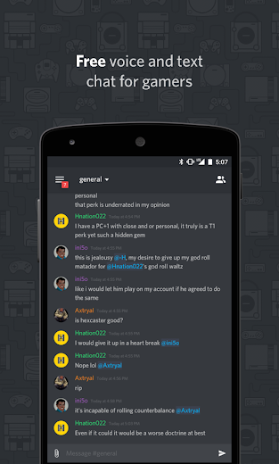 Screenshot 0 for Discord's Android app'