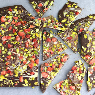 Strawberry & Pistachio Chocolate Bark.