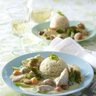 Chicken Fricassee with Sausage and  Rice.
