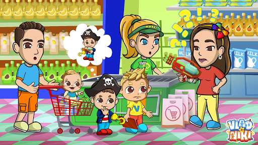 Vlad & Niki Supermarket game for Kids screenshots 7
