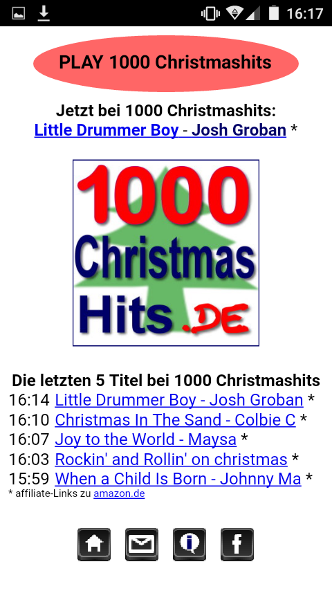 1000 Christmashits Player- screenshot