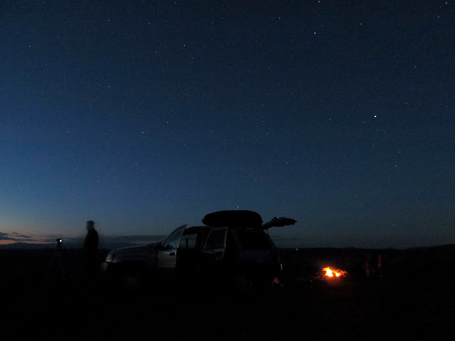 Starry night at camp