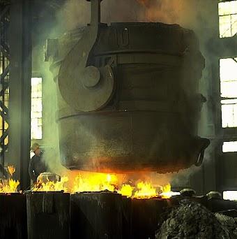 Stahlwerk.