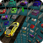 Multi-Level Underground Car Parking Driving School Icon
