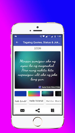 Tagalog, Hugot, Pinoy & Bisaya Love Quotes Editor by King of