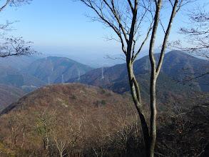 烏帽子岳と延びる稜線を見る