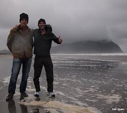 Photo: Getting our feet wet - with Matt Bonds.