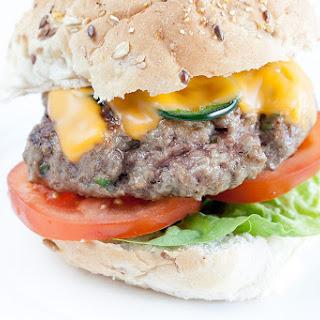 Spicy Jalapeño cheddar burger.