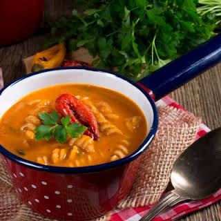 Sweet Red Pepper and Pasta Soup.