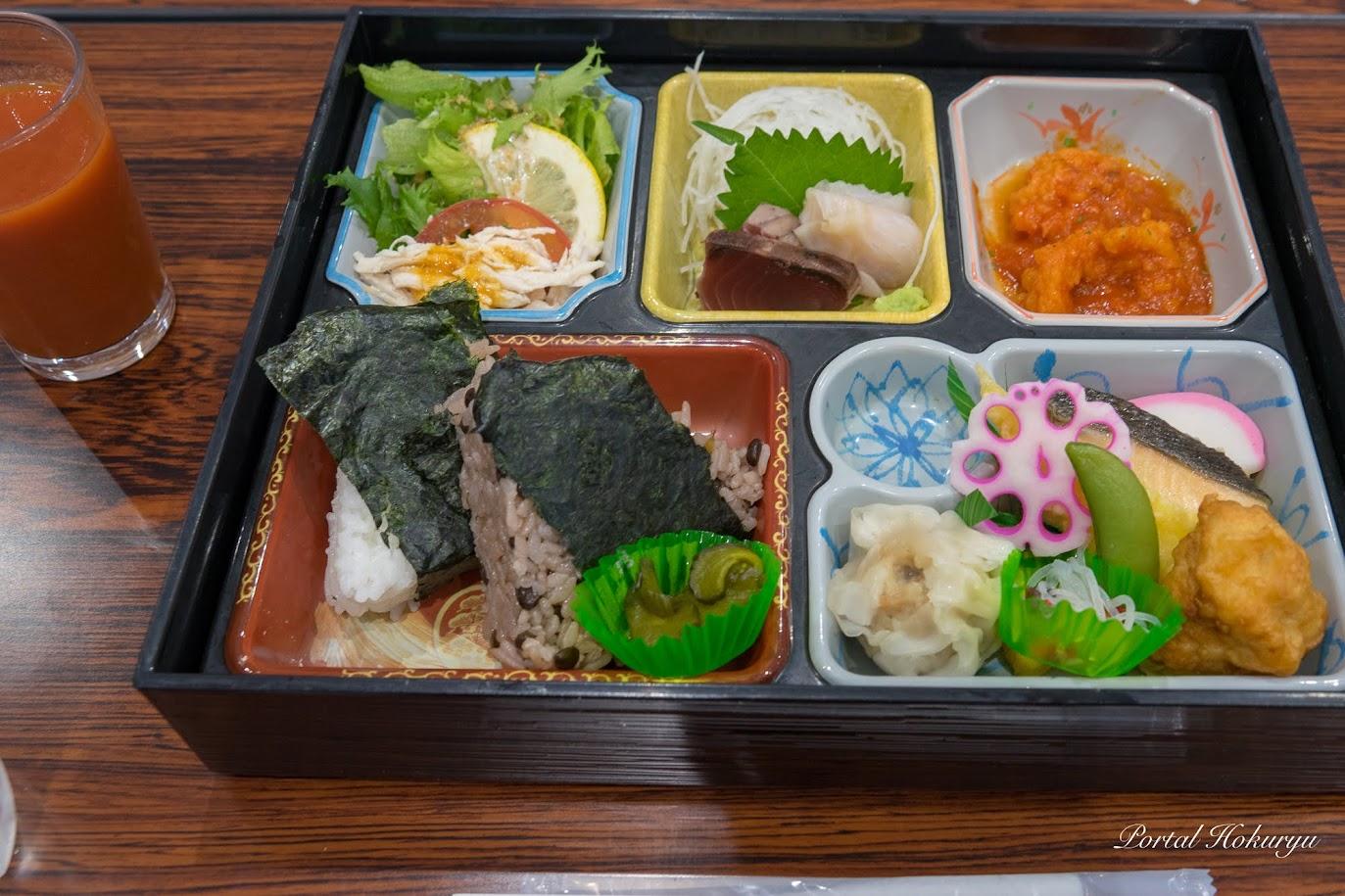 北竜町産の野菜や特産品を使ったお弁当