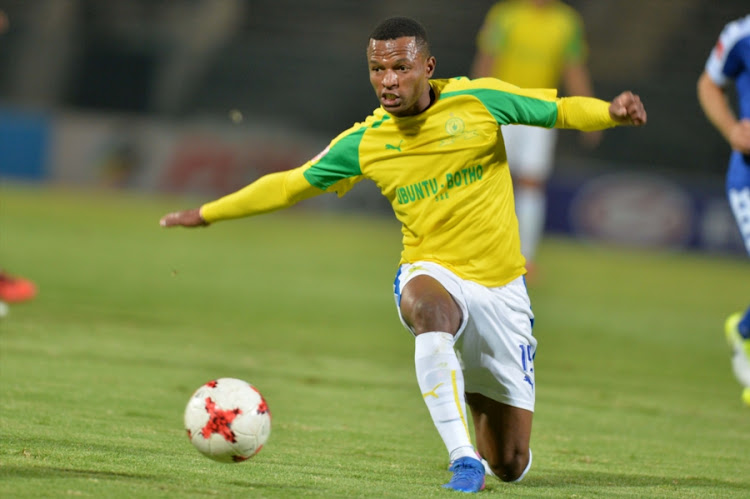 Mzikayise Mashaba during the Absa Premiership match between SuperSport United and Mamelodi Sundowns at Lucas Moripe Stadium on April 19, 2017 in Pretoria, South Africa.