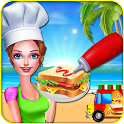Food Truck Cooking Land: Crazy Chef Kitchen Game icon