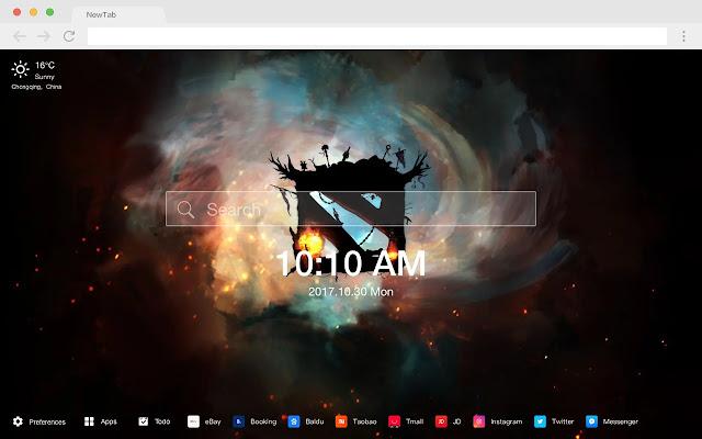 Dota 2 New Tab Page HD Pop Games Theme