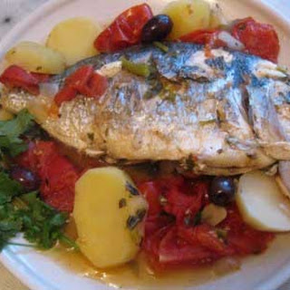 Bream Stew with Tomatoes and Potatoes