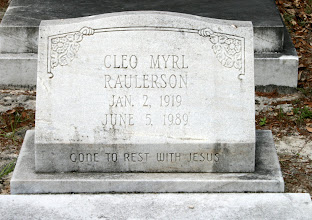 Photo: Cleo Myrl Raulerson daughter of William Owen Raulerson and Mary Dowling!
