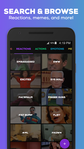 Screenshot 1 for GIPHY's Android app'