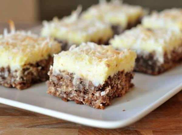 Chocolate Haystack Cream Cheese Squares Recipe