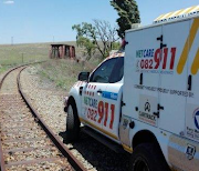 Four people were injured when two goods trains collided in Brakpan on Saturday night, December 15 2018. Image supplied by ER24.
