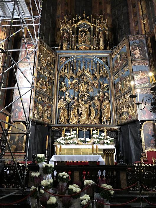 Artwork inside St. Mary's Basilica