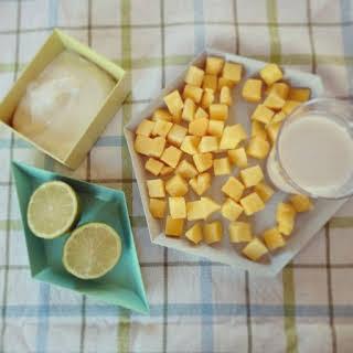 Mango Lime Soy Smoothie.