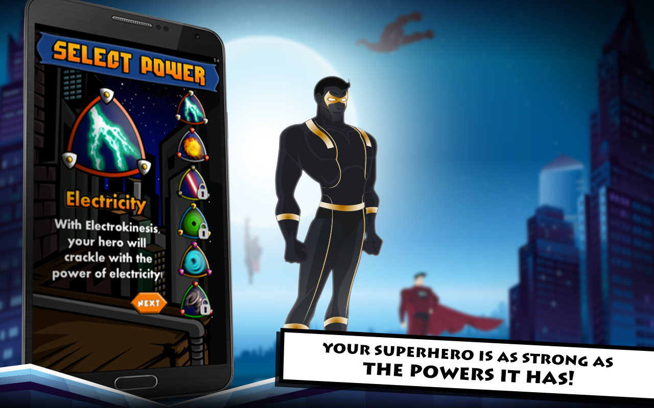 What are some games where you can create your own superhero?