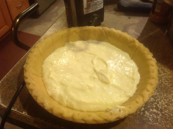 Beat until mixture is creamy and smooth. Then pour into deep dish pie shell,...