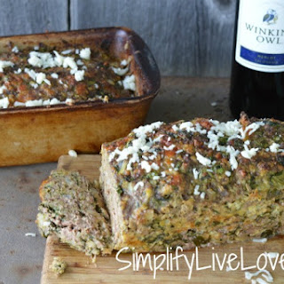 Spinach Mozzarella Meatloaf - One Loaf