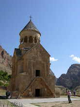 Photo: Noravank monastery which seemed to spring out of the mountains surrounding it. Those steps brought nearly everyone who climbed them a bash on the head.