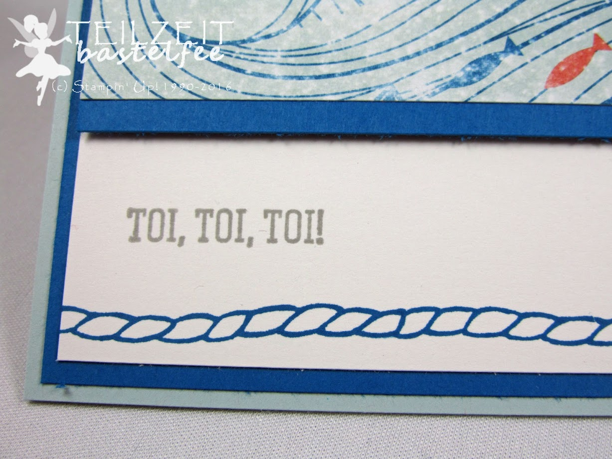 Stampin' Up! – Seaside Shore, Fish, Angeln, DSP High Tide, Designerpapier Auf hoher See, DSP Falling in Love, Designerpapier Zum Verlieben, Framelits Oval Collection, Eins für alles, And many more, Bannerweise Grüße, Thoughtful Banners, Doilies